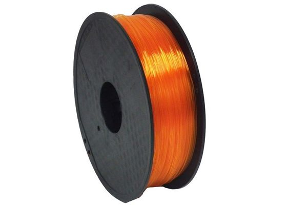 China Good Toughness 3D Printer Plastic Filament , TPE / TPU / PLA Soft 3D Printer Filament supplier