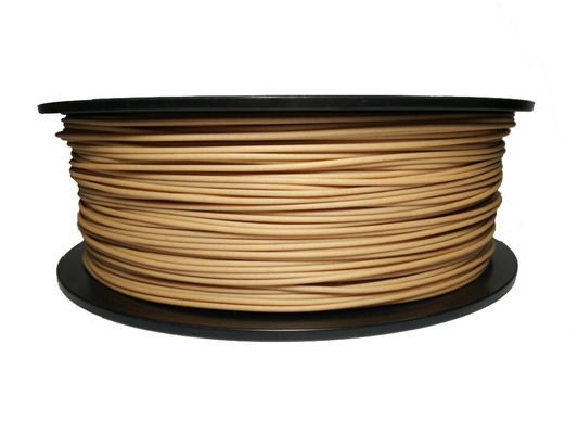 China Natural 1.75MM Wood 3D Printer Filament 1kg 3kg For 3D Printers / 3D Pen distributor