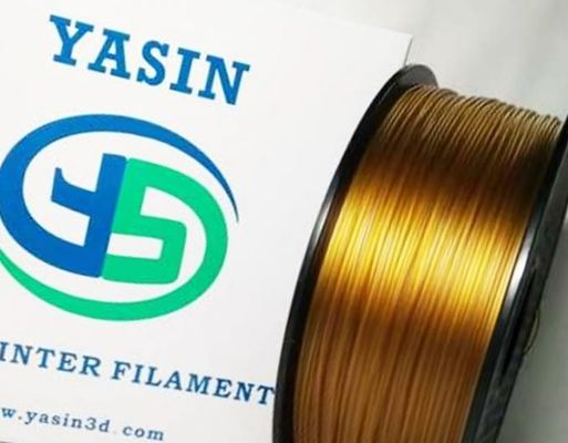 China Gold 1.75MM High Temp 3D Printer Filament 1KG / Spool With Good Chemical Resistance distributor