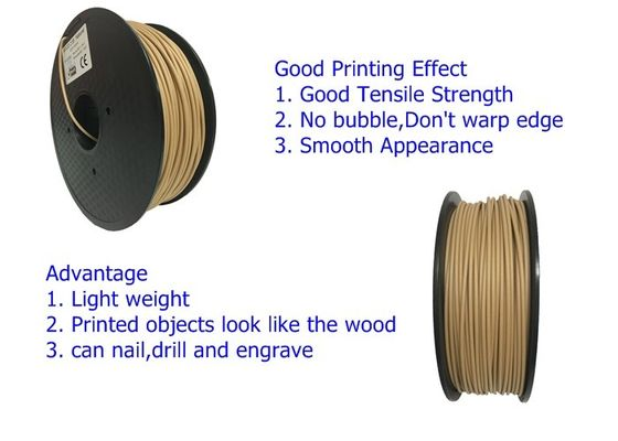 China OEM Service Wood 3D Printer Filament PLA / ABS / HIPS / PETG Filament distributor