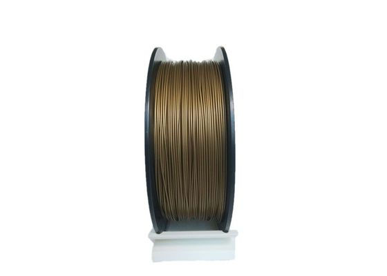 China PLA Brass Filled 3D Printing Filament 1.5kg / Spool Non - Toxic Stable Melting distributor