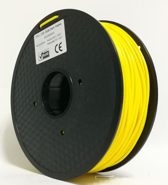 TPE / TPU / Soft PLA Flexible 3D Printer Filament 1.75mm Colorful CE Approved