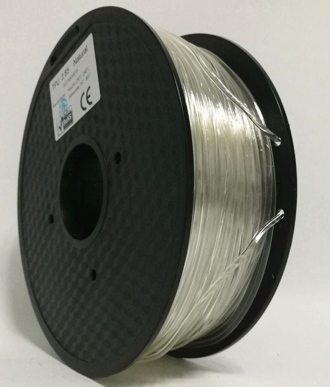 Good Toughness 3D Printer Plastic Filament , TPE / TPU / PLA Soft 3D Printer Filament